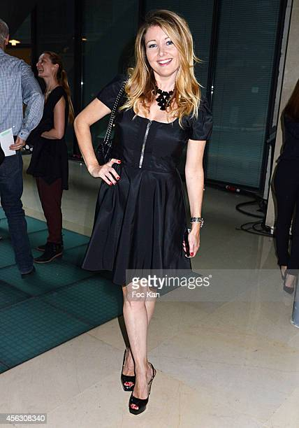 Comedian Angela Melillo attends the John Galliano show as part of the Paris Fashion Week Womenswear Spring/Summer 2015 John Galliano Runway Paris...