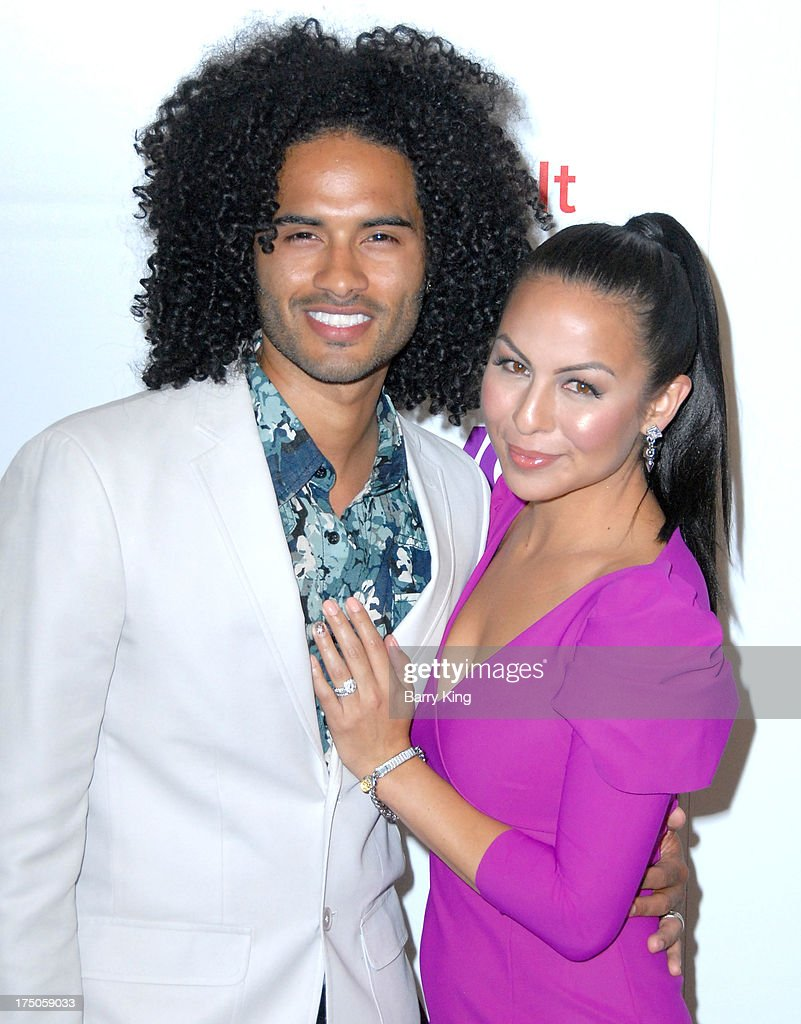Anjelah Johnson with fun, Husband Manwell Reyes