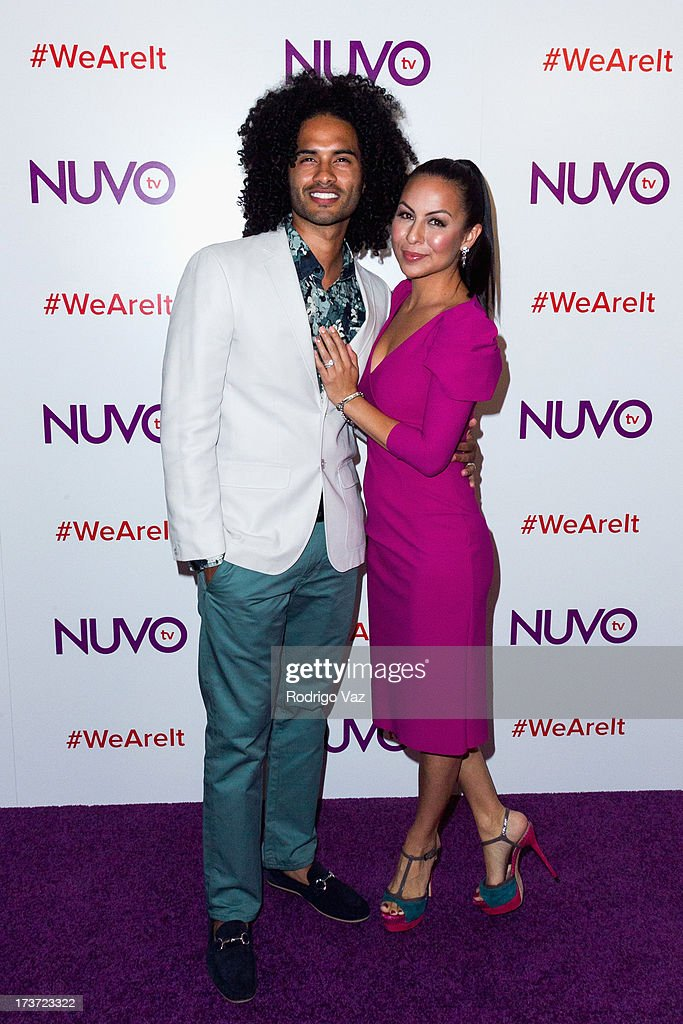 Comedian Anjelah Johnson and husband Manwell Reyes attend the NUVOtv Network Launch Party at The London West Hollywood on July 16, 2013 in West Hollywood, California.