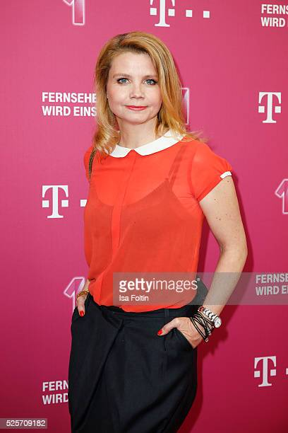 Comedian Annette Frier attends the Telekom Entertain TV Night at Hotel Zoo on April 28, 2016 in Berlin, Germany.