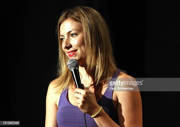 Comedian Annie Lederman performs at Broadway Comedy Club on August 31 2012 in New York City