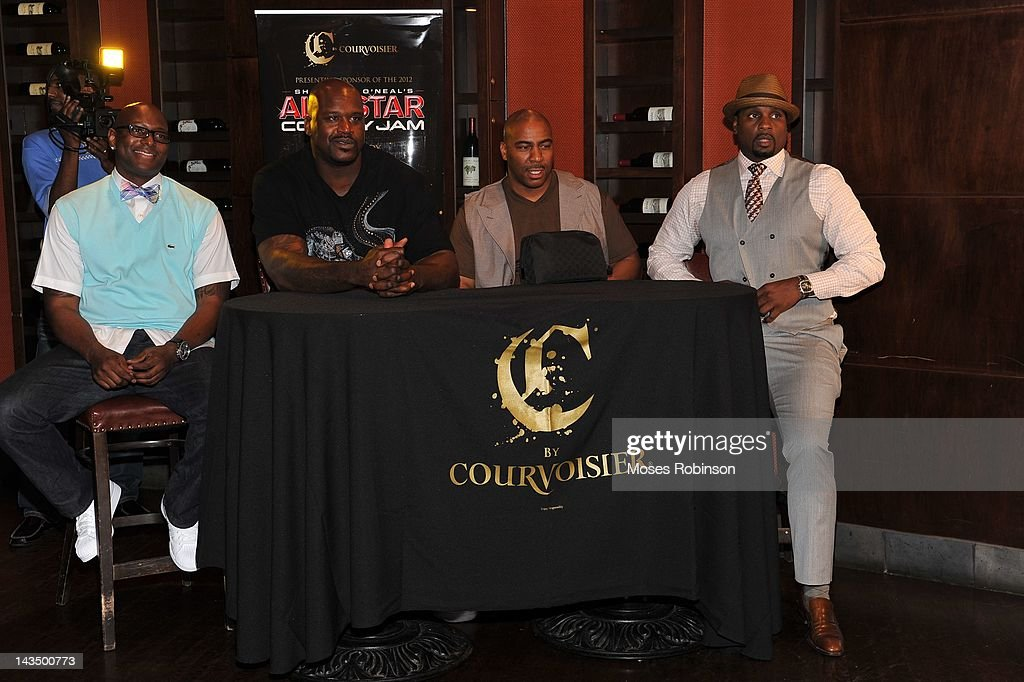 C By Courvoisier And Shaquille O'Neal Celebrate The 'C if U Can Make Shaq Laugh' Contest Finale : News Photo