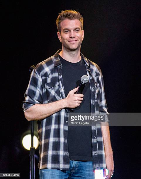 Comedian Anthony Jeselnik performs during the Oddball Comedy And Curiosity Festival at DTE Energy Music Theater on August 30 2015 in Clarkston...