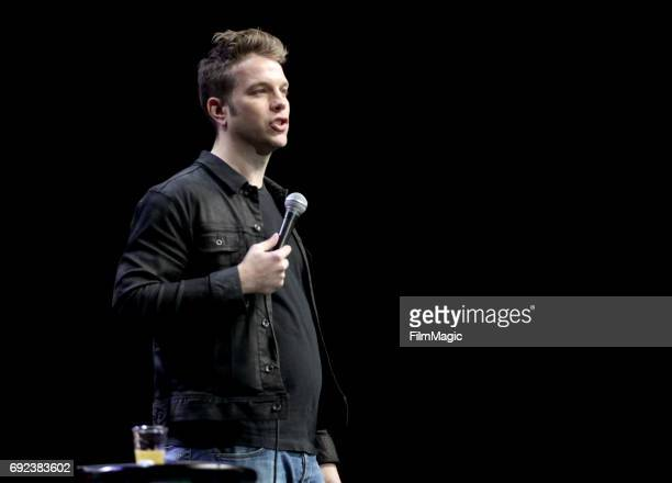 Comedian Anthony Jeselnik performs onstage at The Bill Graham Stage during Colossal Clusterfest at Civic Center Plaza and The Bill Graham Civic...