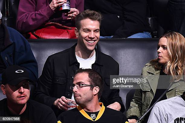 Comedian Anthony Jeselnik watches the game between the Los Angeles Kings and the Pittsburgh Penguins on November 3 2016 at Staples Center in Los...
