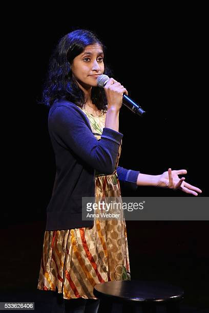Comedian Aparna Nancherla performs onstage during Vulture Festival presents Sarah Silverman Friends at BAM on May 22 2016 in New York City