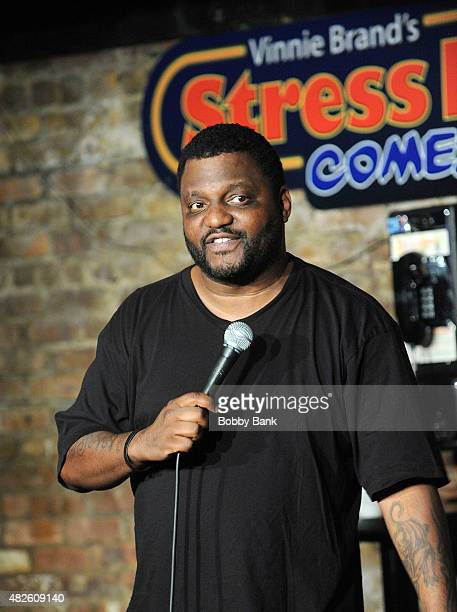 Comedian Aries Spears performs at The Stress Factory Comedy Club on July 31 2015 in New Brunswick New Jersey