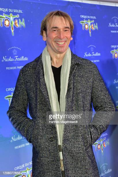 Comedian Arnd Schimkat attends the premiere of Totem by Cirque du Soleil at Theresienwiese on February 13 2020 in Munich Germany