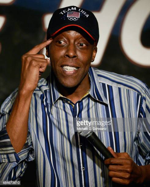 Comedian Arsenio Hall performs during his appearance at The Ice House Comedy Club on September 4 2014 in Pasadena California