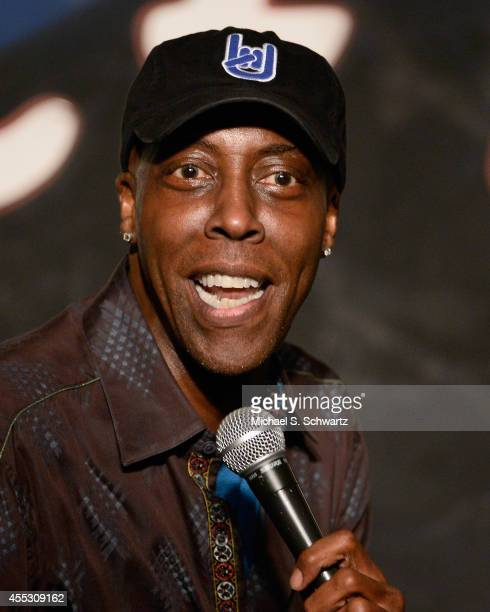 Comedian Arsenio Hall performs during his appearance at The Ice House Comedy Club on September 11, 2014 in Pasadena, California.
