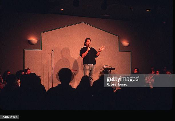 comedian at cobb's comedy club - comedian stock pictures, royalty-free photos & images