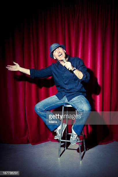 Comedian at stage