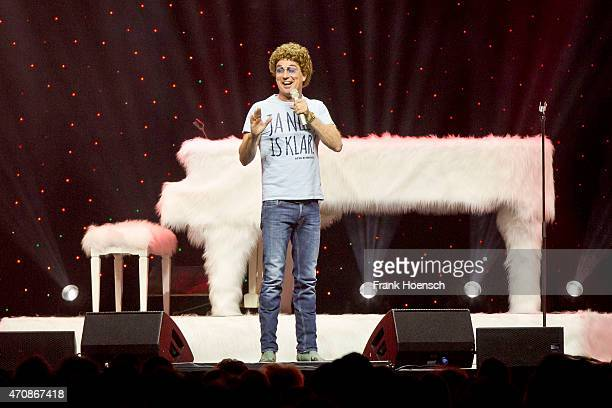 Comedian Atze Schroeder performs live at the O2 World on April 23 2014 in Berlin Germany