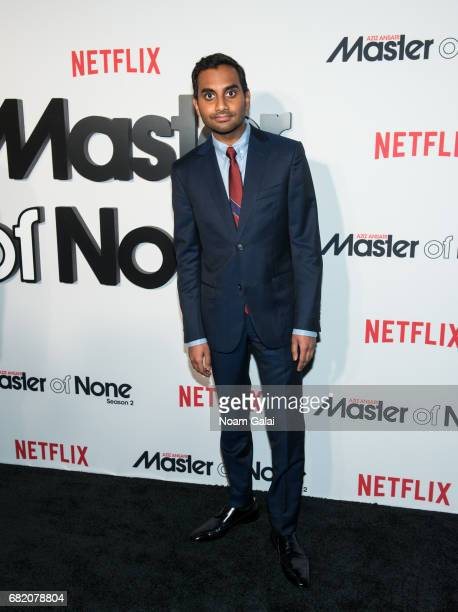 "Comedian Aziz Ansari attends ""Master Of None"" Season 2 premiere at SVA Theatre on May 11, 2017 in New York City."