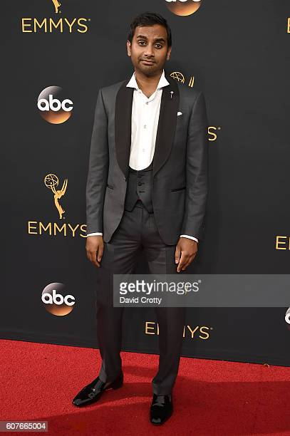 Comedian Aziz Ansari attends the 68th Annual Primetime Emmy Awards at Microsoft Theater on September 18, 2016 in Los Angeles, California.
