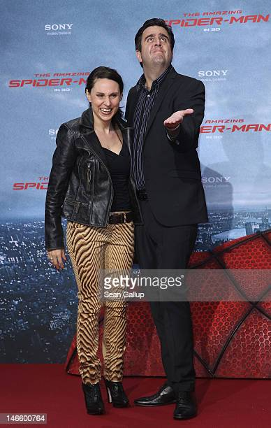 Comedian Bastian Pastewka and Heidrun Buchmaier attend the Germany premiere of The Amazing SpiderMan at Sony Center on June 20 2012 in Berlin Germany