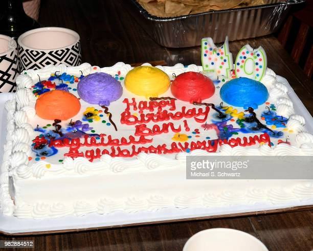Comedian Ben Gleib's birthday cake at Comedian Ben Gleib's 40th Birthday Celebration on June 23 2018 in Sherman Oaks California