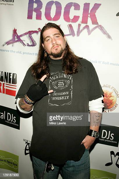 Comedian Big Jay Oakerson attends ZO2's Rock Asylum Benefit Concert at the Hiro Ballroom at The Maritime Hotel on October 13 2011 in New York City