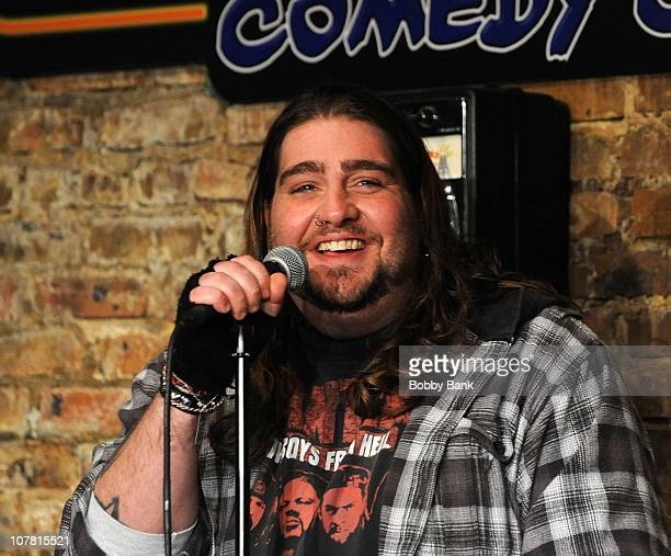 Comedian Big Jay Oakerson performs at The Stress Factory Comedy Club on December 29, 2010 in New Brunswick, New Jersey.