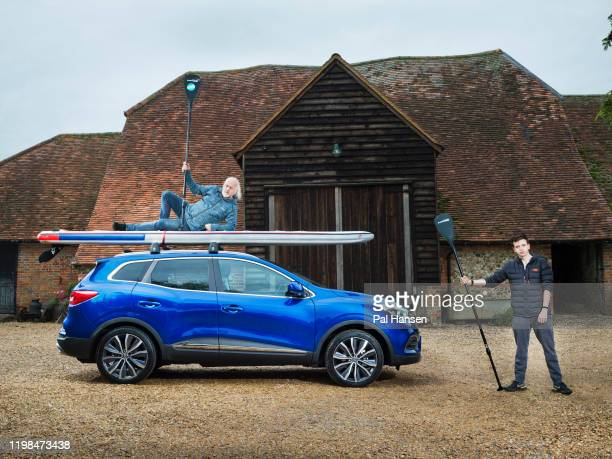 Comedian Bill Bailey with his son Dax are photographed for the Times on October 5 2019 in HenleyonThames England