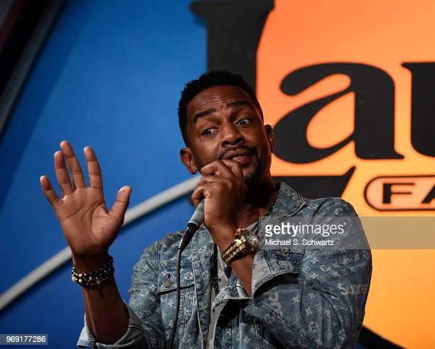 Comedian Bill Bellamy performs at the SarcomaOma Foundation Comedy Benefit at The Laugh Factory on June 6 2018 in West Hollywood California