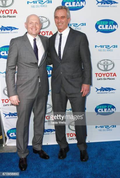 Comedian Bill Burr and radio host Robert F Kennedy Jr attend Keep it Clean Live Comedy Benefit for Waterkeeper Alliance at Avalon Hollywood on April...