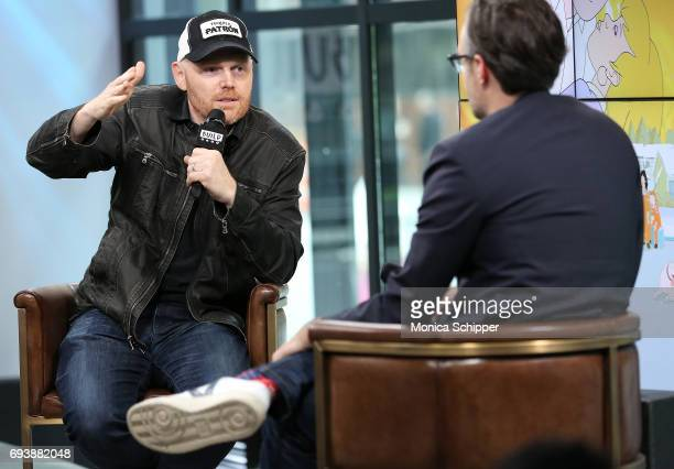 Comedian Bill Burr speaks on stage during Build presents Bill Burr siscussing 'F Is For Family' at Build Studio on June 8 2017 in New York City