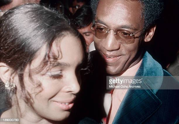 Comedian Bill Cosby and wife Camille Cosby attend an event circa 1970 in Los Angeles California