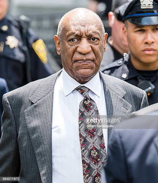 Comedian Bill Cosby is seen leaving the Montgomery County Courthouse on May 24 2016 in Norristown Pennsylvania
