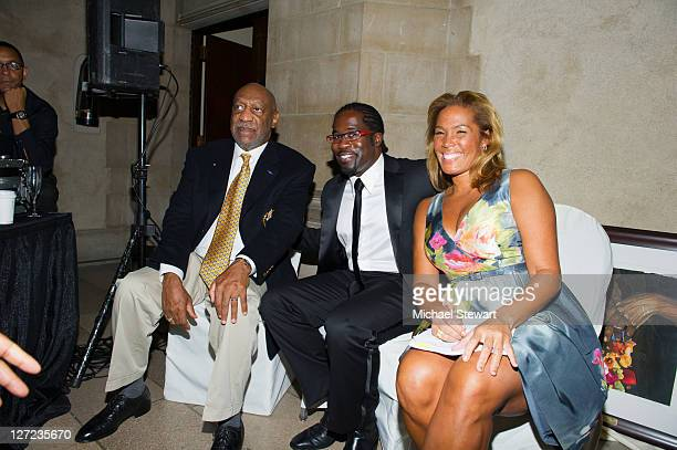 Comedian Bill Cosby musician Daniel Beaty and journalist Kemberly Richardson attend the 2nd annual Legacy to Promise Gala at The Riverside Theatre on...
