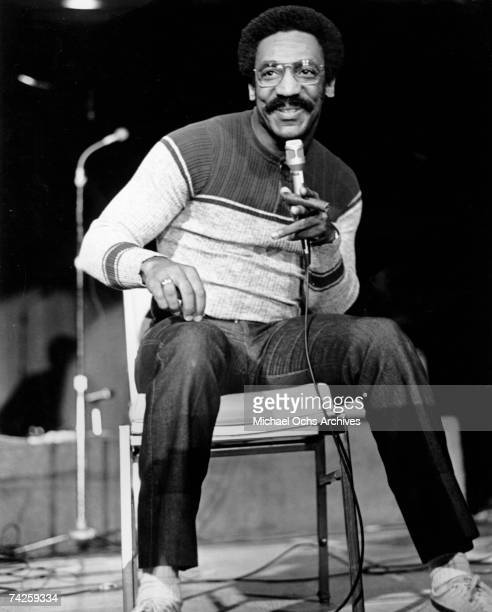 Comedian Bill Cosby performs his standup routine circa 1973 in Los Angeles California
