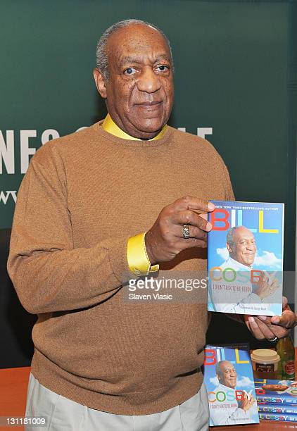 Comedian Bill Cosby promotes new book 'I Didn't Ask To Be Born But I'm Glad I Was' at the Barnes Noble 5th Avenue on November 2 2011 in New York City