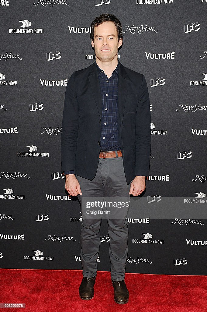 Comedian Bill Hader attends as IFC, New York Magazine and Vulture host the premiere of 'Documentary Now' at the New Museum on September 12, 2016 in New York City.
