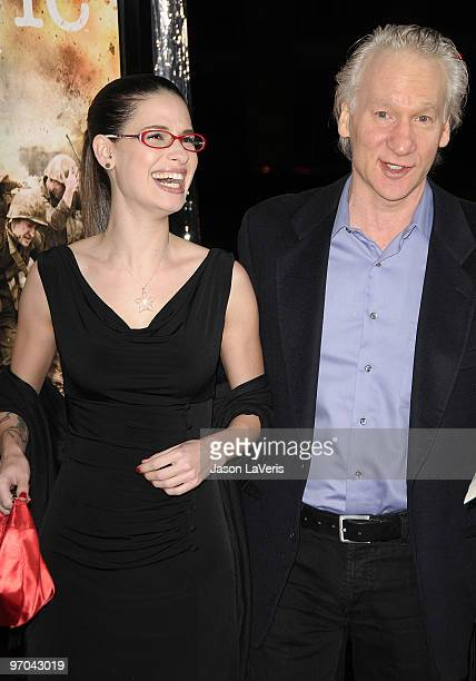 Comedian Bill Maher and Cara Santa Maria and guest attend the premiere of HBO's new miniseries The Pacific at Grauman's Chinese Theatre on February...