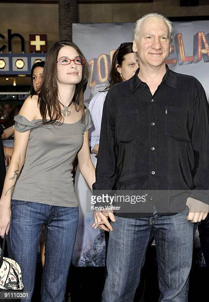Comedian Bill Maher and Cara Santa Maria arrive at the premiere of Sony Pictures' Zombieland at the Chinese Theater on September 23 2009 in Los...