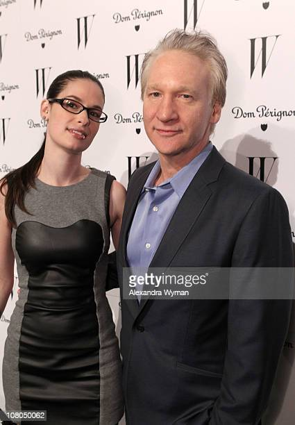 Comedian Bill Maher and Cara Santa Maria arrive at W Magazine's Celebration of The Best Performances Issue and The Golden Globes held at at Chateau...