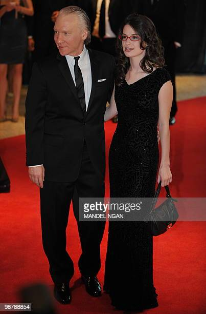 Comedian Bill Maher and Cara Santa Maria arrive for the 2010 White House Correspondents Dinner May 1 2010 at a hotel in Washington DC AFP...