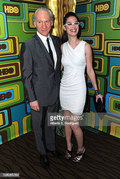 Comedian Bill Maher and Cara Santa Maria arrive HBO's Post 2011 Golden Globe Awards Party held at The Beverly Hilton hotel on January 16 2011 in...