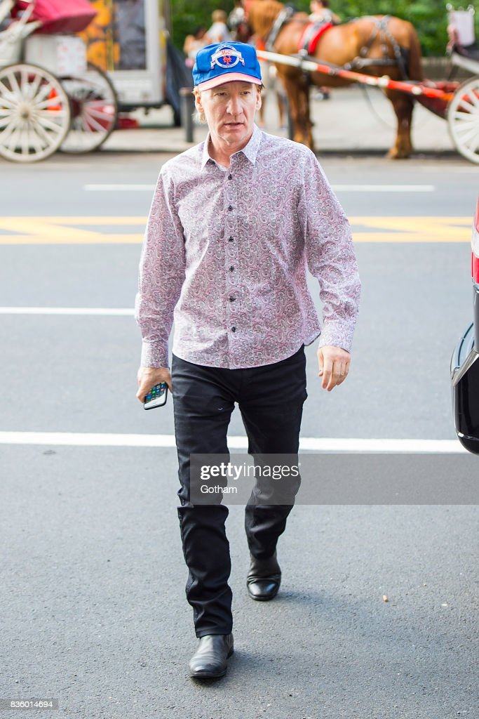 Comedian Bill Maher is seen in Midtown on August 20, 2017 in New York City.