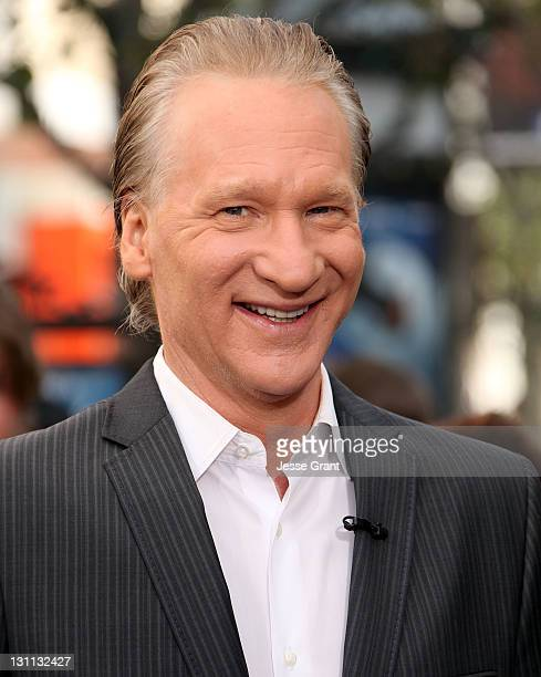 Comedian Bill Maher visits Extra at The Grove on November 1 2011 in Los Angeles California