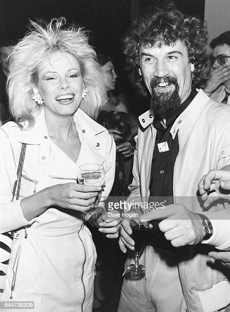 Comedian Billy Connolly and actress Pamela Stephenson at the after party for the film 'Brimstone and Treacle' London September 13th 1982