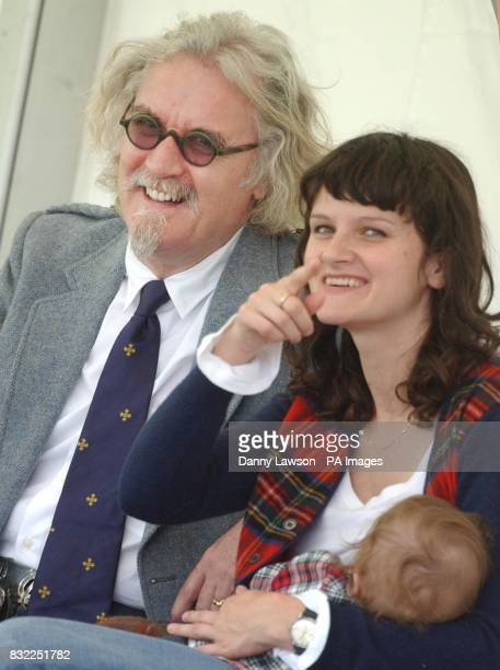 Comedian Billy Connolly attends the Lonach Highland Games in Aberdeenshire with his daughter Cara