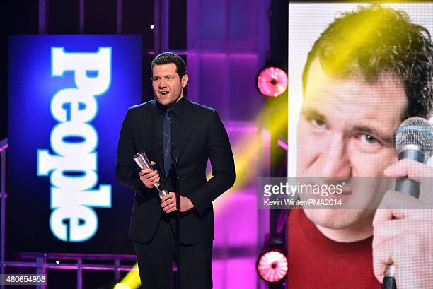 Comedian Billy Eichner accepts Breakout Star of the Year onstage during the PEOPLE Magazine Awards at The Beverly Hilton Hotel on December 18 2014 in...