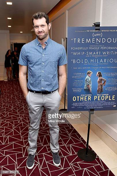 Comedian Billy Eichner attends the premiere of Vertical Entertainment's 'Other People' at The London West Hollywood on August 31 2016 in West...