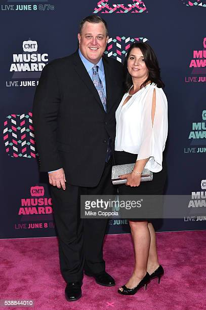 Comedian Billy Gardell and spouse Patty Gardell attends the 2016 CMT Music awards at the Bridgestone Arena on June 8 2016 in Nashville Tennessee