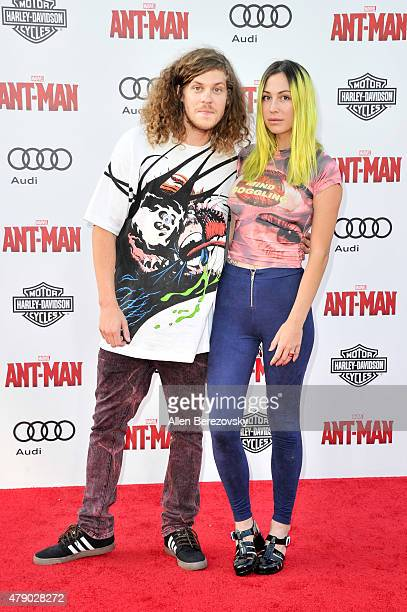 Comedian Blake Anderson and Rachael Finley arrive at the Los Angeles Premiere of Marvel Studios AntMan at Dolby Theatre on June 29 2015 in Hollywood...