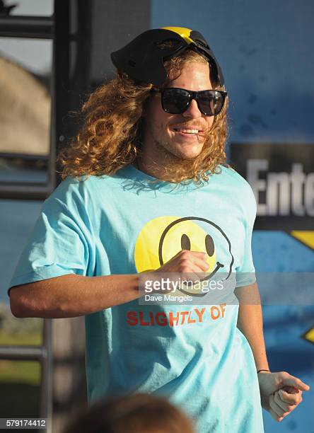 Comedian Blake Anderson DJ's at the Entertainment Weekly ConX at Embarcadero Marina Park North on July 22 2016 in San Diego California