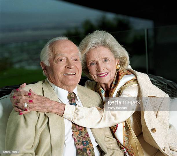 Comedian Bob Hope and wife Dolores Hope are photographed for Life Magazine in 1998 in Los Angeles, California.