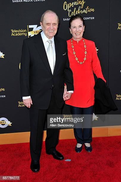 Comedian Bob Newhart and Ginny Newhart attend the Television Academy's 70th Anniversary Gala on June 2 2016 in Los Angeles California