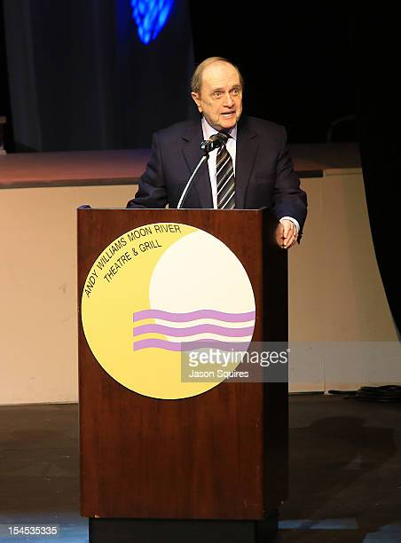 Comedian Bob Newhart attends a memorial service for entertainer Andy Williams on October 21 2012 in Branson Missouri Williams died on September 25...